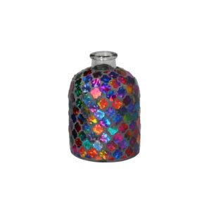 Jarro cristais multi-cores
