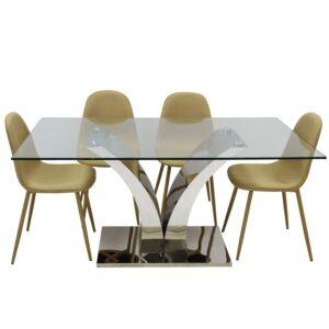 Mesa Comedor Metal/cristal