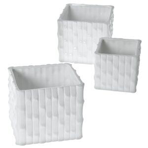 Set 3 Vasos Ceramica 56645 Branco