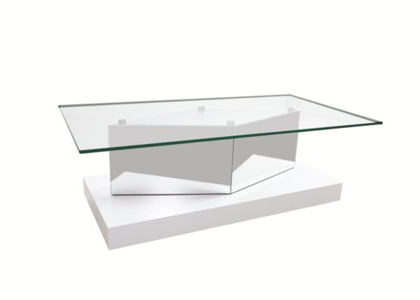 Mesa de centro Ouro tampo/vidro