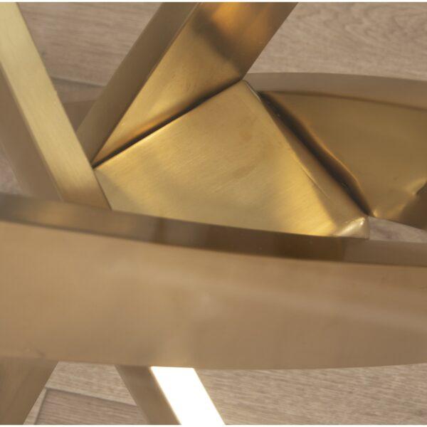 Mesa Redonda Metal Dourado/cristal