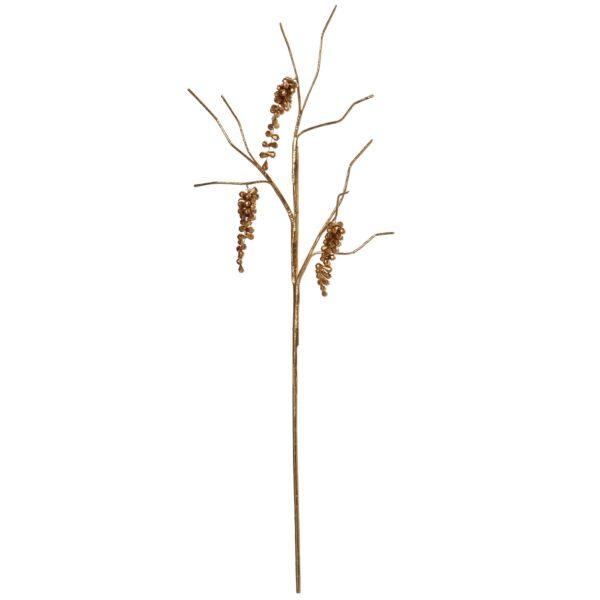 Ramas C/bolinhas Acrílicas Douradas _70cm