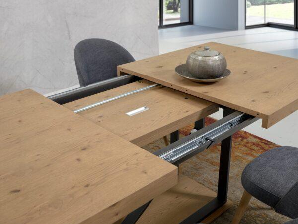 Mesa de Jantar Pé Central Tampo Extensível