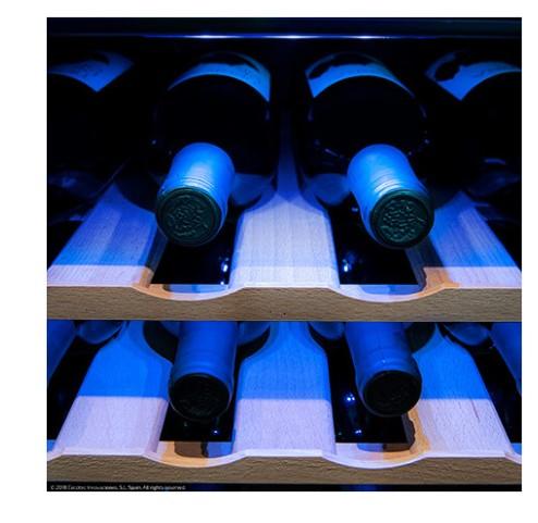 Cave Vinho Cecotec Sommelier 1600Silence Wood