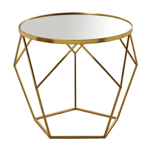 Mesa Dourada com espelho 48613