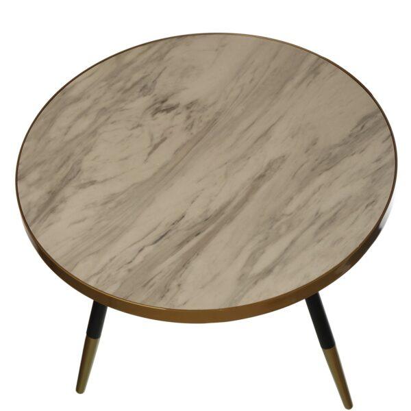 Mesa redonda pés em madeira