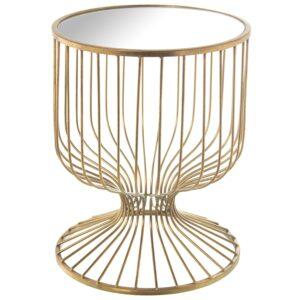 Mesa de Metal Dourada