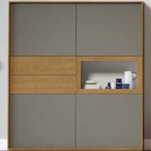 Móvel bar 4 portas, 2 gavetas e porta abatível