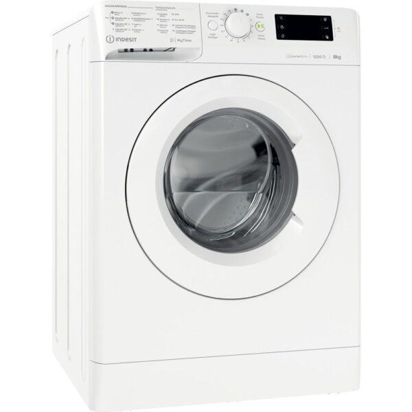 Máquina de lavar roupa de carga frontal livre instalação Indesit, 8 kg