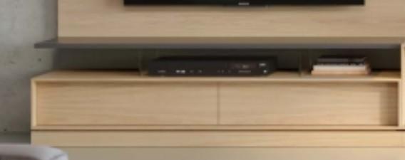 Apoio tv com separadores em vidro